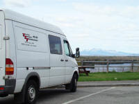 Total Truck Transport Sprinter Van on run to Maine